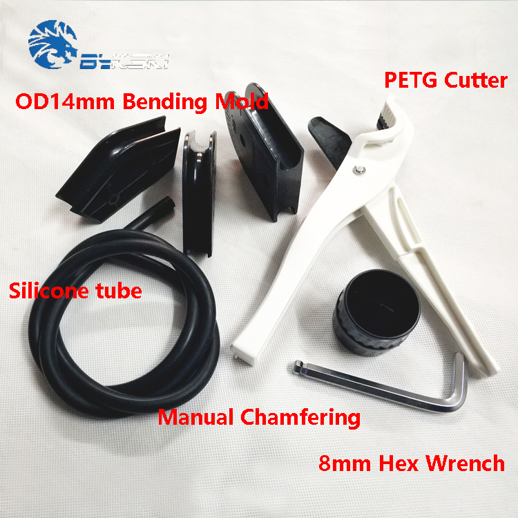 Bykski od14mm + id10mm petg cortador de tubulação dobra molde kit 10mm diâmetro barra silicone computador líquido sistema refrigeração ferramenta