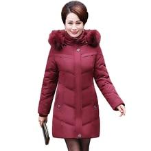 2017 New Long Winter Jacket Women Slim Female Warm Coat Thicken Parka Plus Size Cotton Clothing Hooded Jackets Middle-aged women