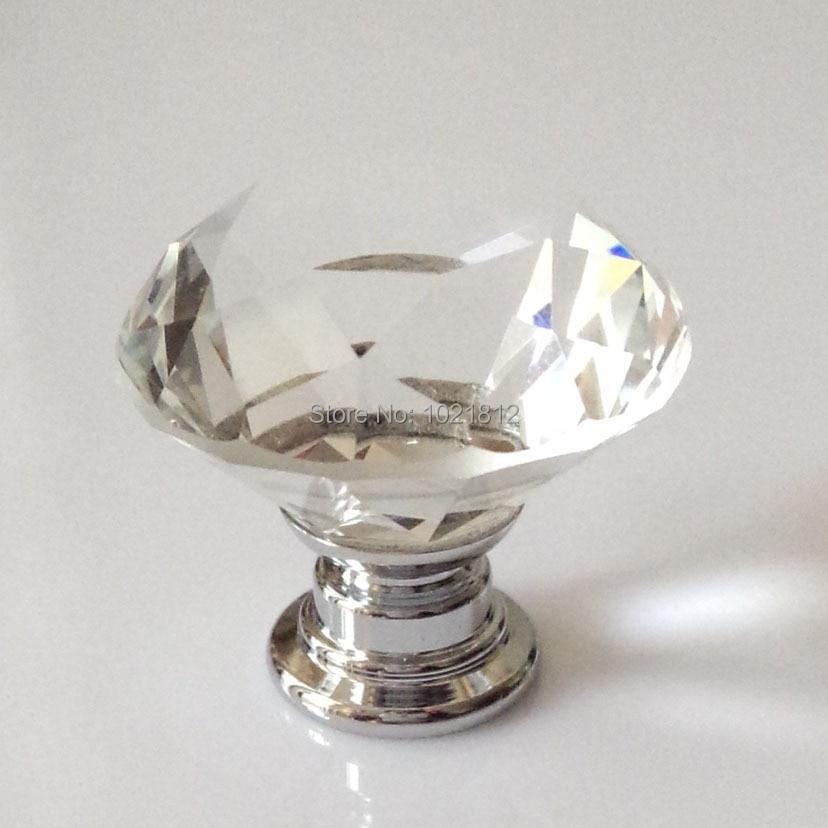 10pcs clear crystal cabinet knobs drawer knob cupboard knobs closet dresser knob handles 295mm diamond