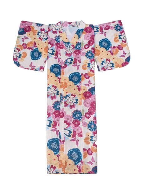 Japanese Kimono Outer Garment Bathrobe Costume Girl Sweet Dress Japanese Kimono Woman Flower Clothing