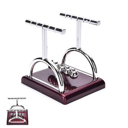 1PCS Newtons Cradle Steel Balance Balls Physics Science Teaching Pendulum School Educational Supplies Desk Accessory Toy Gift