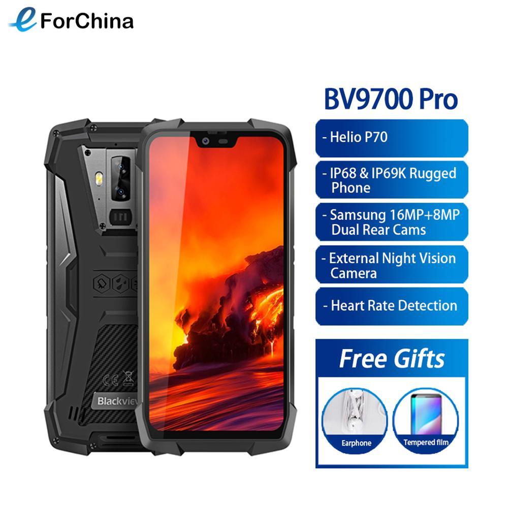 Blackview BV9700 Pro Helio P70 6GB + 128GB IP68 téléphone portable étanche 5.84