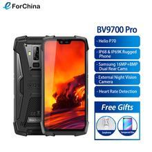 "Blackview BV9700 Pro Helio P70 6GB + 128GB IP68 방수 휴대 전화 5.84 ""19:9 FHD + IPS 4380mAh 안드로이드 9.0 스마트 폰 NFC"