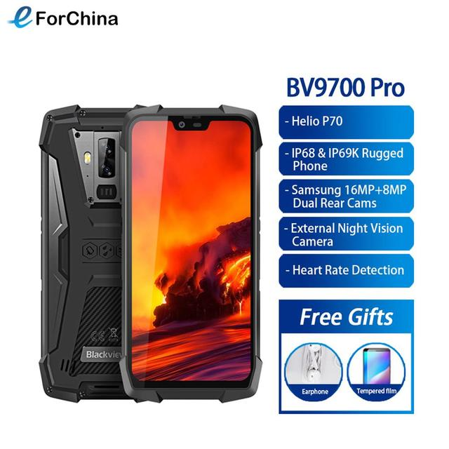 "Blackview BV9700 Pro Helio P70 6GB+128GB IP68 Waterproof Mobile Phone 5.84"" 19:9 FHD+ IPS 4380mAh Android 9.0 Smartphone NFC"