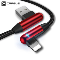 CAFELE 120cm LED Light USB Charging Phone Cable for iphone X 8 7 6s Plus 5s Durable USB Cable Data Sync Cable for IOS 11 10 9