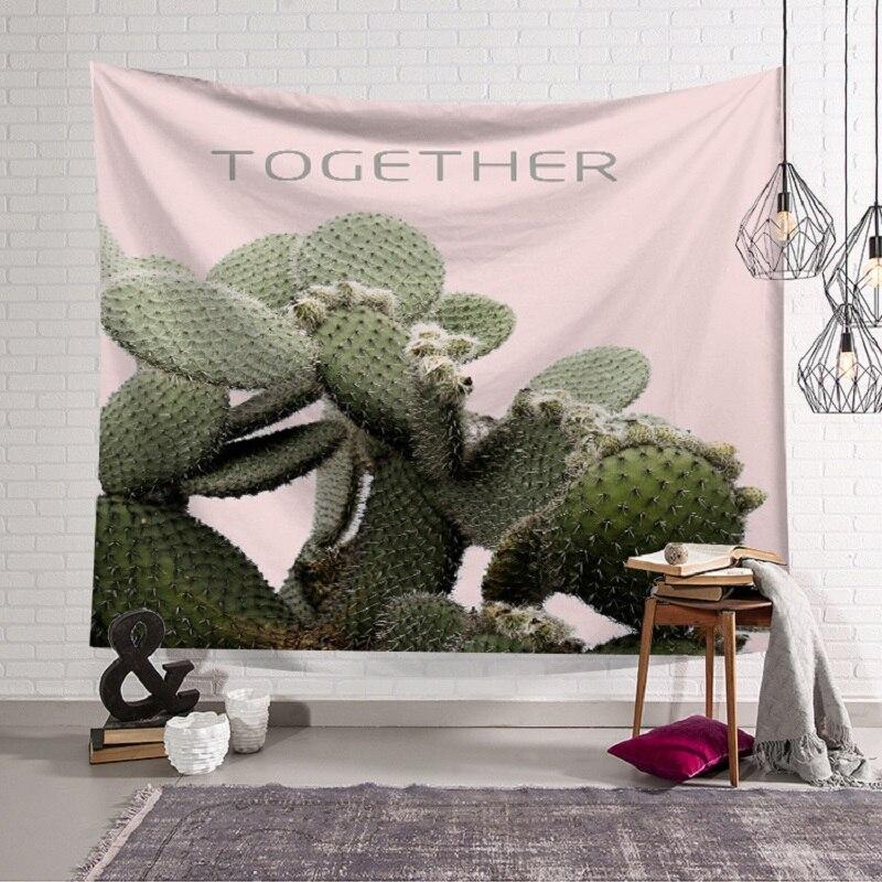 Tapestry Cactus Decoration tapestry mandalas Wall Hanging For Home Tenture Murale Mandala Blanket arazzo da parete 150x130cm