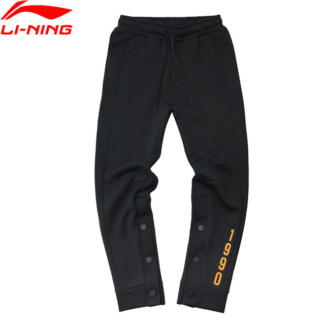 Li-Ning Men PFW The Trend Sweat Pants Printing Regular Fit 63% Cotton 37% Polyester CHINA LiNing Sports Pants AKLP285 MKY463