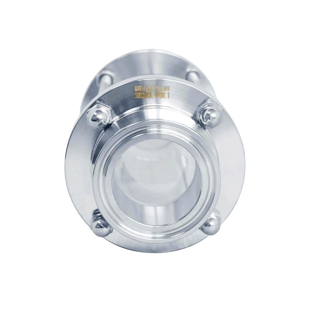 """3//4/"""" Acero Inoxidable 316 flujo sanitario TRI CLAMP De Vidrio De Vista"""