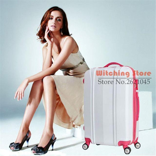 24 INCH  2024# direct new ABS universal wheel waterproof trolley suitcase password everyone boarding #EC FREE SHIPPING