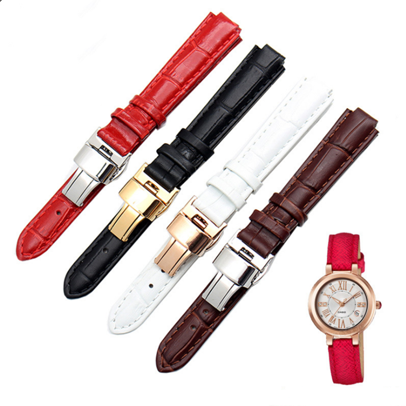 8mm Convex Multicolor Genuine Leather Watch Strap For Fossil  For KC 4029 Wrist Strap WatchBand Accessories Convex | Watchbands