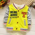2016 New Autumn Casual Kids Casaco Long Sleeved Printed Star Letter T Boys Jackets Cardigan Baby Infants Outwear Coats MT811