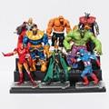 The Avengers figures toys doll toy 12cm The thor Loki Wolverine The thor Iron man Hulk Captain America Action Figure toy