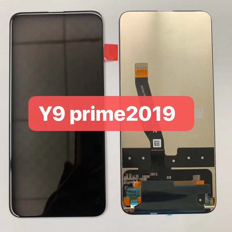 Original Black 6.59inch For Huawei Y9 Prime 2019 STK-LX1 LCD Display Touch Screen Digitizer Assembly Parts+tools+double Tapes