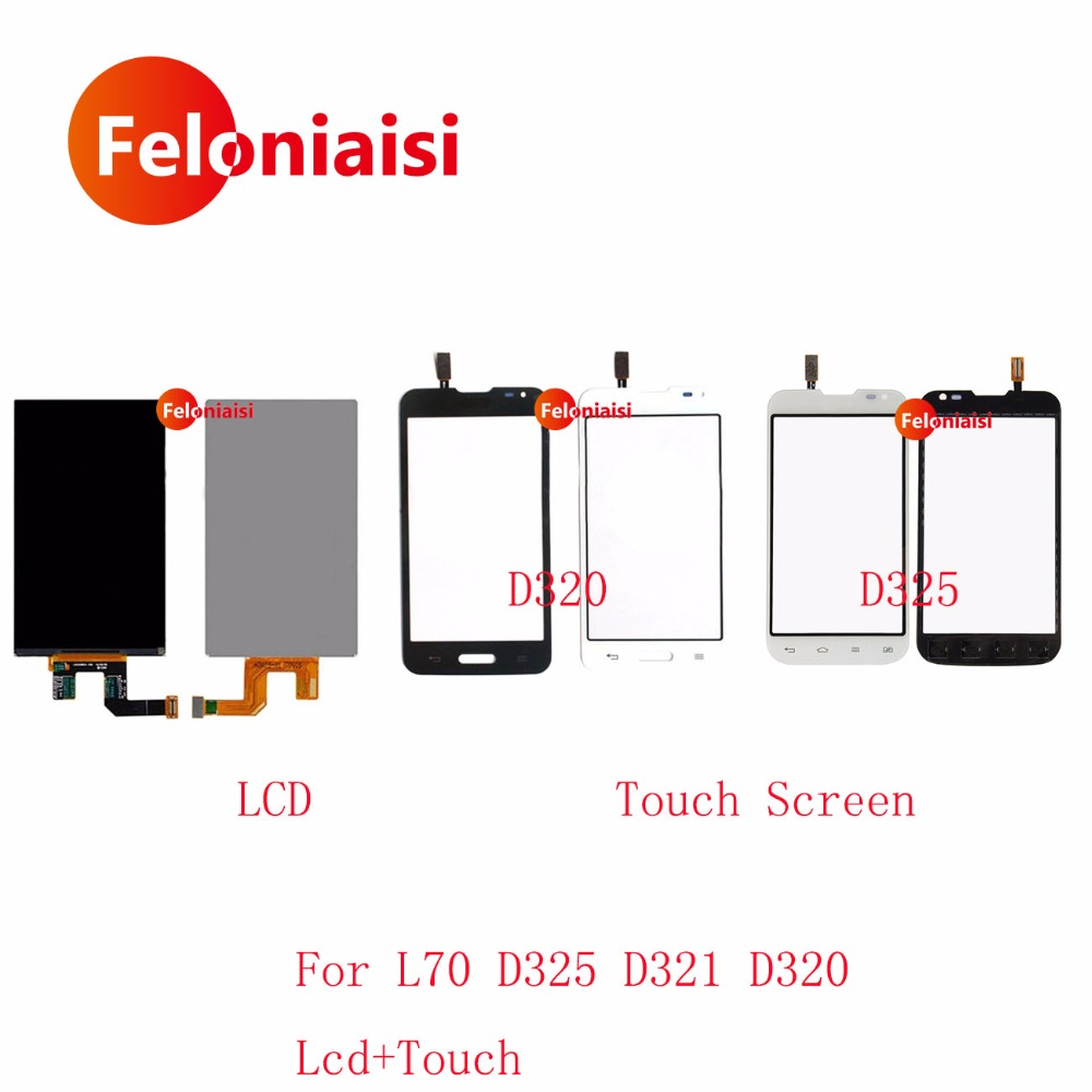 High Quality 4.5'' For LG Optimus L70 D325 D321 D320 LCD Display With Touch Screen Digitizer Sensor Panel+Tracking Code