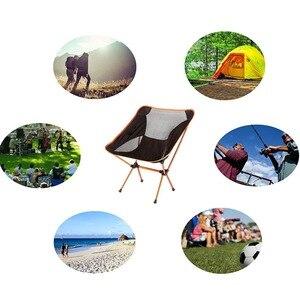 Image 5 - Składane na zewnątrz plaża połowów krzesło przenośne, Super lekkie oddychające oparcia piknik na plaży krzesło grill stołek kempingowy