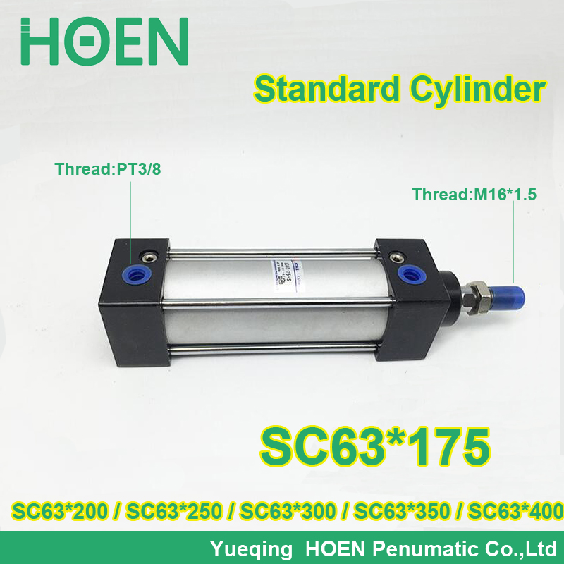 SC63*175 63mm bore stroke SC63x200 standard single rod double action pneumatic cylinder SC SU series SC63*250 SC63*300 SC63*400 sc63 400 s 63mm bore 400mm stroke sc63x400 s sc series single rod standard pneumatic air cylinder sc63 400 s
