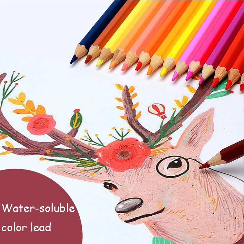 Colored Pencil 36/48 Colors Watercolor Colored Pencil Professional Drawing Pencils School Pencils lapices de Color Art Supplies faber castell 48 60 colors watercolor colored pencils lapis water soluble color pencil school art supplies lapices de colores