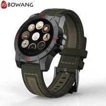 Купить с кэшбэком Men Smart Watch Outdoor Sport Waterproof Smartwatch BOWANG Heart Rate Monitor Compass ALtimeter Barometer IOS Android W07