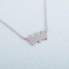 10PCS Fashion Superman Batman Necklaces Outline Vampire Bat Necklace Simple Superhero Halloween Necklaces for Gifts
