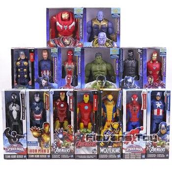 Marvel Super Heroes Мстители танос Черная пантера Капитан Америка Тор Железный человек паук халкбастер Халк фигурку 12