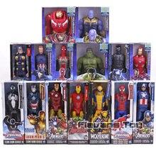 """Marvel Superhéroes vengadores Thanos Pantera Negra Capitán América Thor Iron Man Spiderman Hulk figura de acción 12 """"30 cm"""