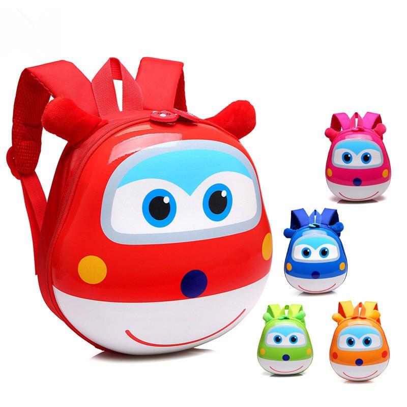 2017 new Super Wings Cute Kid School bags Cartoon Character 3D Style Children Backpacks Kindergarten girls boys baby backpack