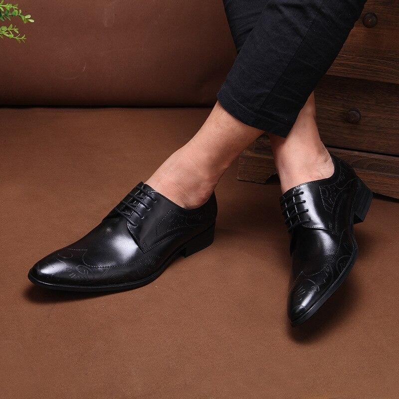 77bfd865e Couro De Grimentin Marca brown Sapatas Moda Britânico Homens 2019 Sapatos  Vestido Black Masculinos Luxo Nova ...