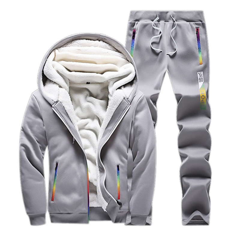 Home Pants Track Limpid In Sight Mens Clothes Printed Thick Hooded Winter Suit Male Tracksuit Men Set Sporting Two Pieces Sweatsuit Hoodies Jacket