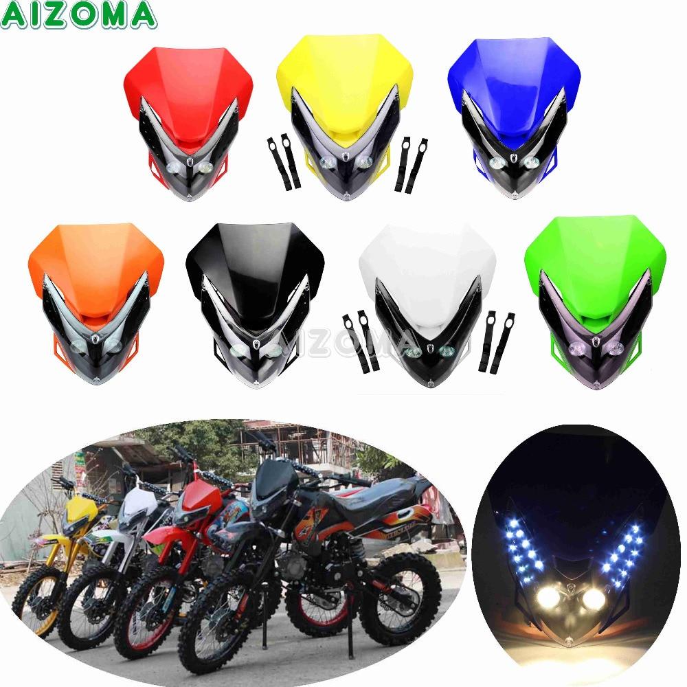 Polisport Halo LED Headlight Black Motorcycle Dirt Bike
