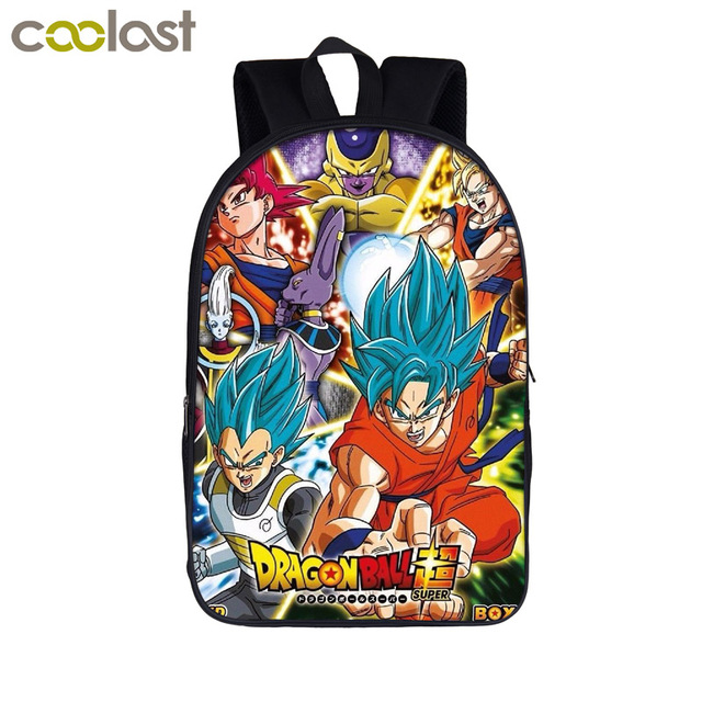 Японского Аниме Драконий жемчуг Z/супер рюкзак детей школьные сумки подросток мальчики девочки Школьный рюкзак Saiyan Goku Книга сумка подарок