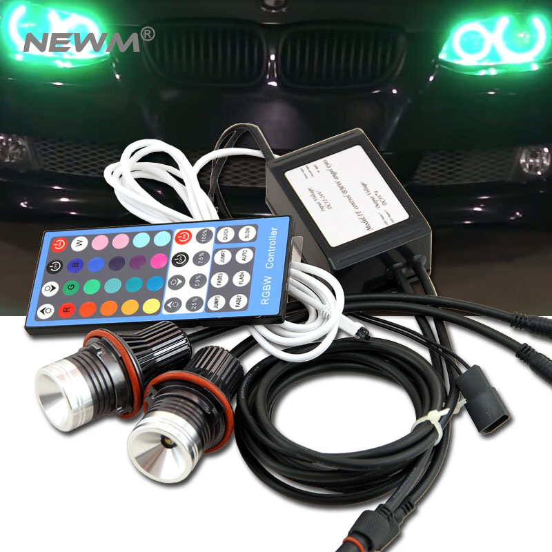 Free Shipping!!! RGB Color Change Cree Chips LED Angel Eyes LED Marker For BMW E39/E87/E63/E64/E53/E65/E66/E60/E61 ik colouring men s orologio uomo allochroic glass skeleton auto mechanical watch wristwatches gift box free ship