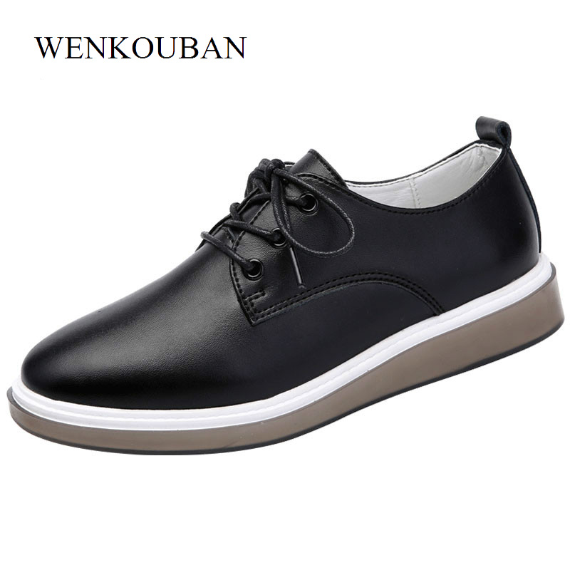 Genuine Leather Shoes Women Flats Loafers Summer Oxford Shoes Black Moccasins Ladies Casual White Shoes Flat Chaussure Femme 2017 fashion genuine leather white loafers women flats ladies creepers platform shoes woman espadrilles chaussure femme