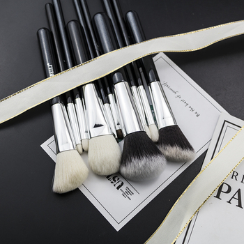 BEILI Black Complete Professional Foundation Powder Concealer Contour Natural goat hair Eyes Blending 30 pieces Makeup Brush set 6