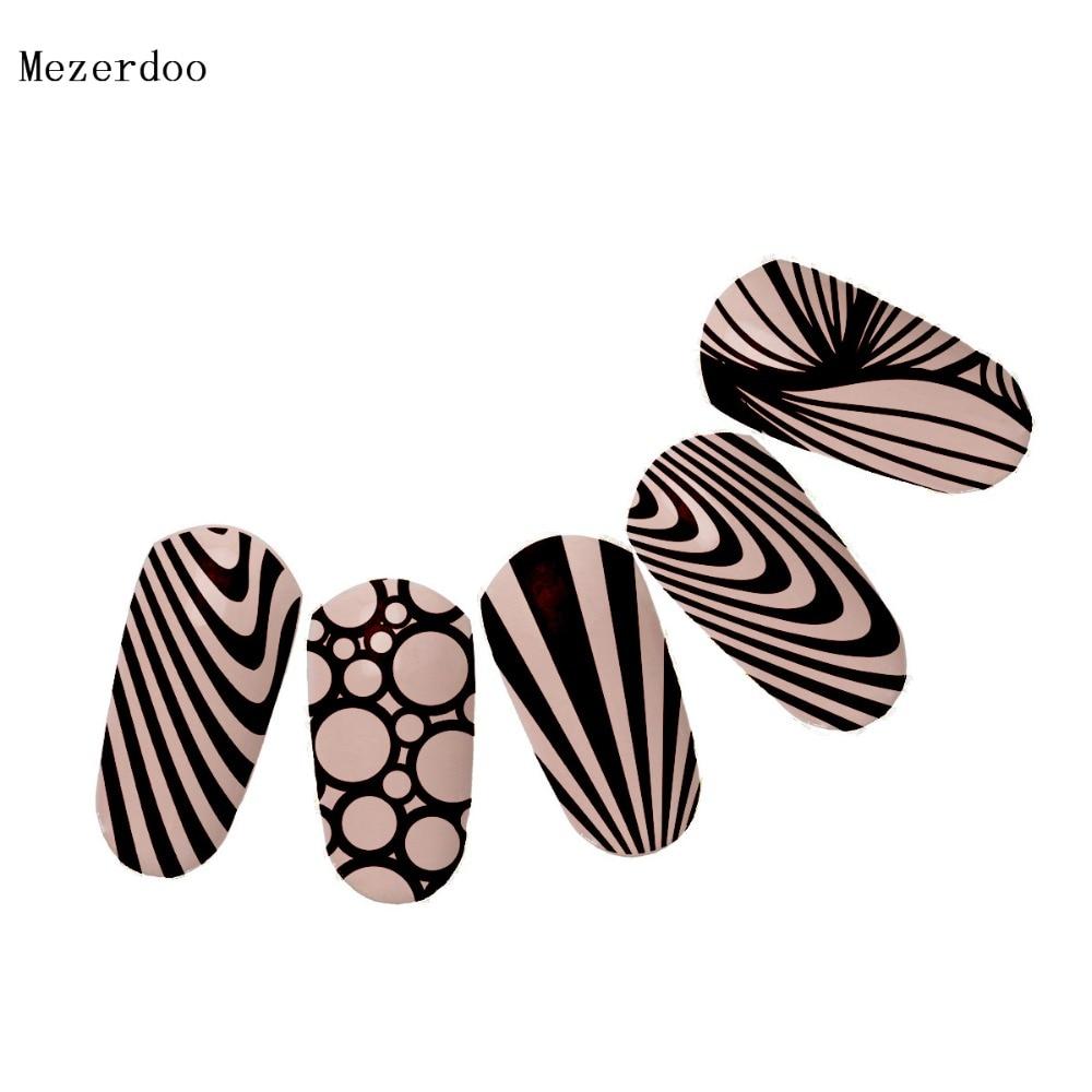 Klassische Linie Zebra Streifen Muster Nail art Stempel Vorlage Bild ...