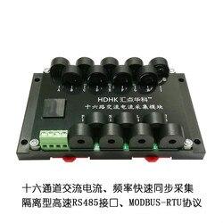 Multiplex 16 Way prądu przemiennego pomiaru częstotliwości akwizycji moduł RS485 nadajnik czujnika MODBUS-RTU