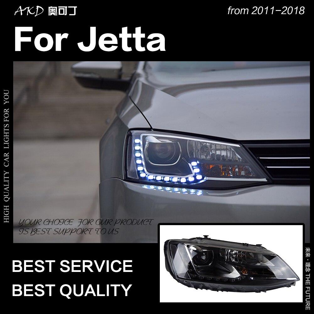 AKD Car Styling for VW Jetta Headlights 2011 2018 Jetta Gli LED Headlight Europe Version Led