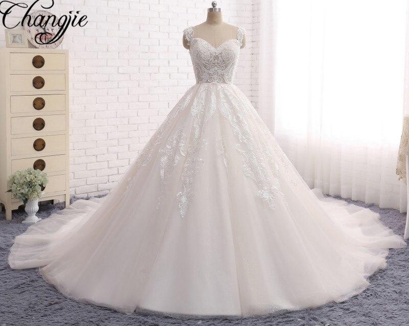 Abiti Da Sposa 2017 Lace Organza Wedding Dresses Beading