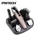 Pritech 6 In1 машина для стрижки Волос машинка для стрижки волос триммер Волос бороды триммер машина для обрезки парикмахерская стрижка машина
