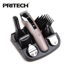 Pritech 6 In1 Hair cutting machine hair clipper Hair trimmer the beard trimmer machine for trimming barber haircut machine