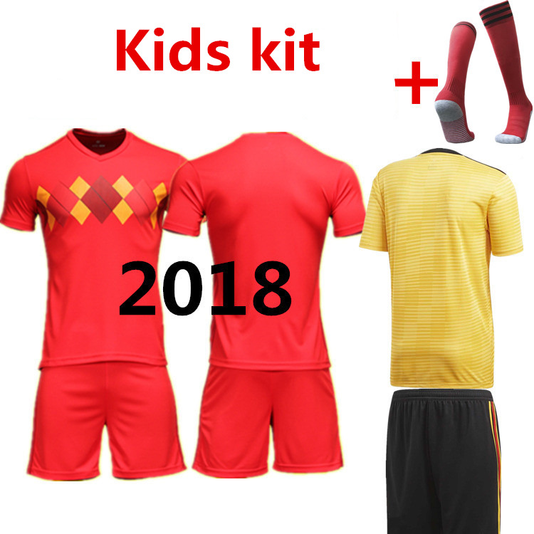 In spot! new 2018 boy child T-shirt Belgium kids shirts kit 2018 Best Quality Casual children suit Tees Free shipping
