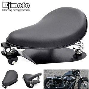 Image 1 - Moto Solo Ghế Đế Mùa Xuân SeatPad Yên Ngựa Chân Đế Cho Harley Davidson Sportster Honda Yamaha Kawasaki Suzuki Bobber Chopper