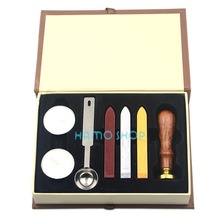 1 zestaw woskowy sztyft do pieczęci pieczęć z zestaw pudełek zestaw Vintage wesele zaproszenie pieczęć