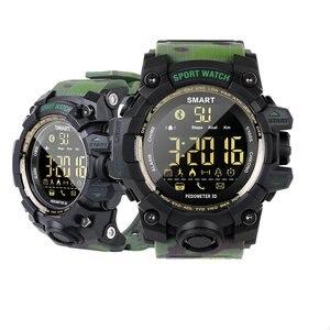 Image 3 - EX16S Smart Watch Camouflage Camo Sport Watch Men Running Step Passometer Sleep Monitor Call Reminder Stopwatch Waterproof Watch