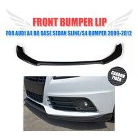 Carbon Fiber Front Bumper Diffuser Lip Spoiler for Audi A4 B8 S4 Sline Bumper 2009 2010 2011 2012 Car Styling