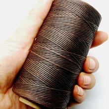 Швейная вощеная нить 150D 1 мм Ручная строчка шнур для кожи DIY ремесло инструмент 260 м DIY ремесленные изделия из кожи