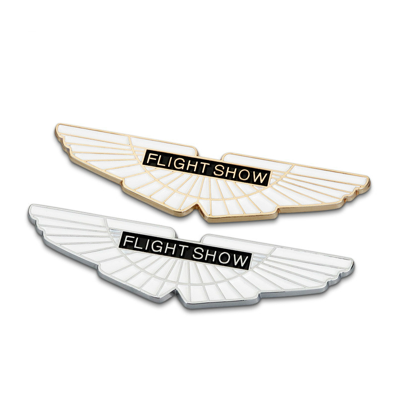 New Gold Flight Show Wings Metal Car Styling Emblem Badge