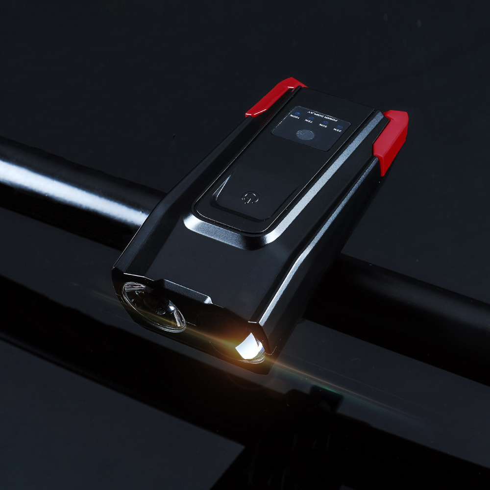Led-Bicycle-Headlight Flashlight Horn Front-Light-Set Rechargeable Smart-Sensor High-Brightness title=