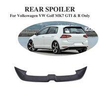 FRP / Carbon Fiber Black Rear Trunk Sticker Roof Spoiler Window Wing For Volkswagen VW Golf 7 VII MK7 2014 2017