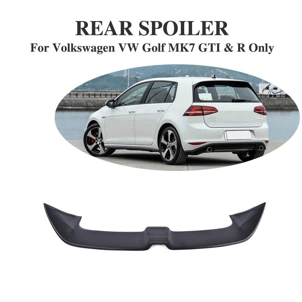 FRP/En Fiber De Carbone Noir Arrière Tronc Autocollant Toit Spoiler Fenêtre Aile Pour Volkswagen VW Golf 7 VII MK7 2014-2017