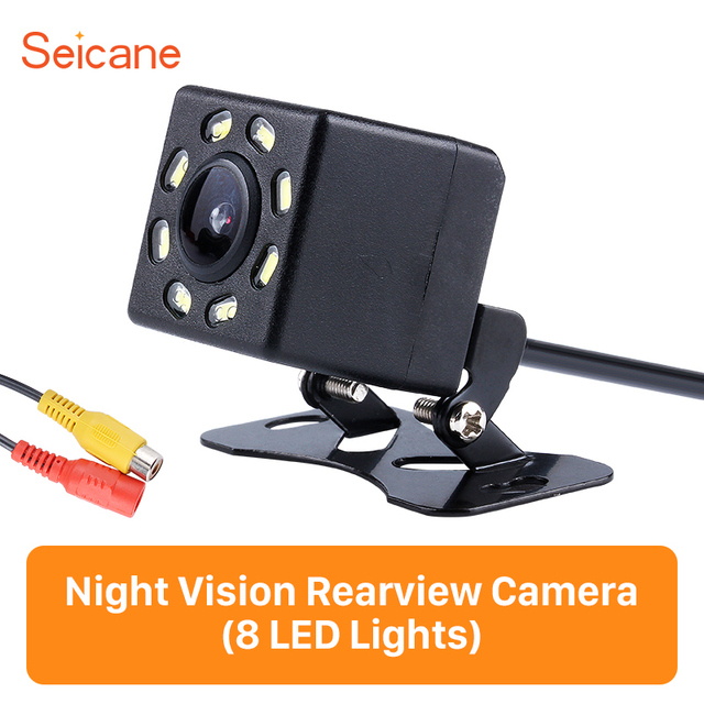 Seicane wire HD Car Rearview Camera Reverse Parking Backup Monitor Kit CCD CMOS with 8 LED Display Plastic 648*488 pixels